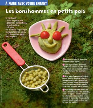 """""""Les bonshommes en petits pois"""", supplément pour les parents du numéro de novembre 2014 de Popi - Conception, réalisation et photo : Raphaële Vidaling."""