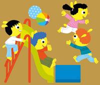 """""""Alors, c'était bien l'école ?"""" et """"L'abécédaire de la rentrée en maternelle"""" - Dossier réalisé par Anne Bideault - Illustrations : Pierre Caillou - Supplément pour les parents du magazine Pomme d'Api de septembre 2015."""
