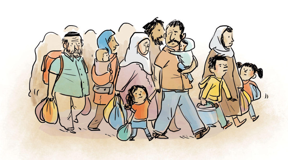 Crise des migrants - Illustrations : Zelda Zonk