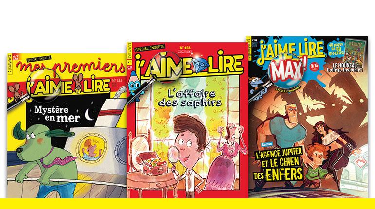 Trois romans policiers écrits pour les enfants !
