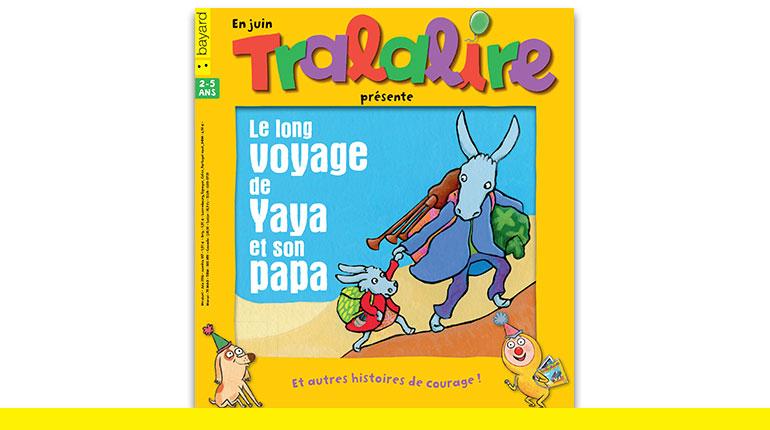 """""""Le long voyage de Yaya et son papa"""" - Texte et illustrations de l'histoire à lire dans le magazine Tralalire de juin : Jennifer Dalrymple"""