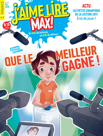 Couverture du magazine J'aime lire Max, octobre 2016