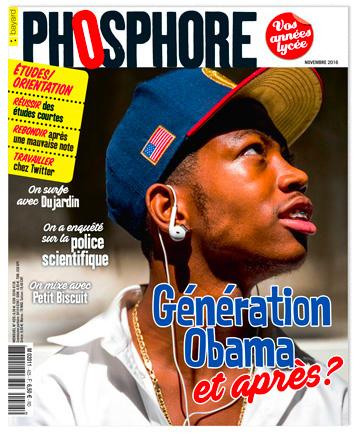 Couverture du magazine Phosphore, novembre 2016, actuellement en vente en kiosque.