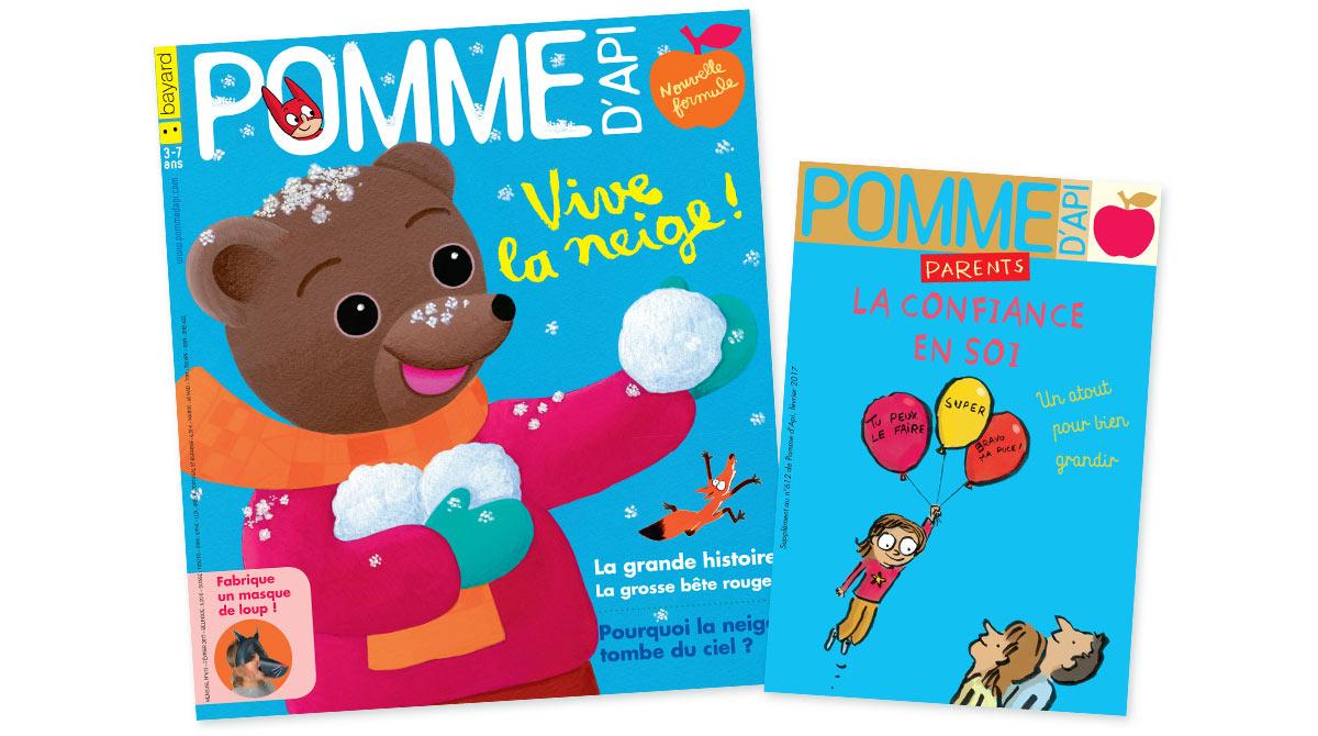 Le numéro de février du magazine Pomme d'Api pour les 3-7 ans et son supplément pour les parents sont en vente en kiosque à partir du 27 janvier
