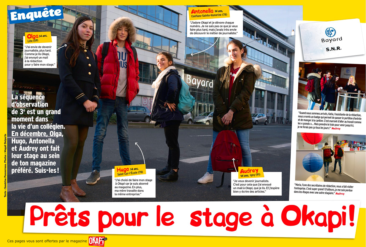"""Téléchargez l'article """"Prêts pour le stage à Okapi !"""" - Okapi, 1er mars 2017 - Texte : Sandrine Pouverreau. Photos : Magali Delporte"""