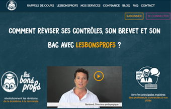 Consulter le site Lesbonsprofs.com