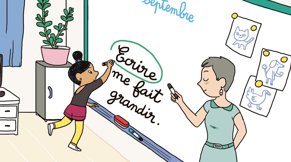 Illustration : Ecrire me fait grandir