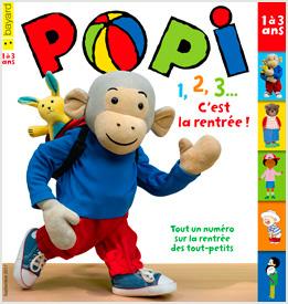 Couverture du magazine Popi, septembre 2017