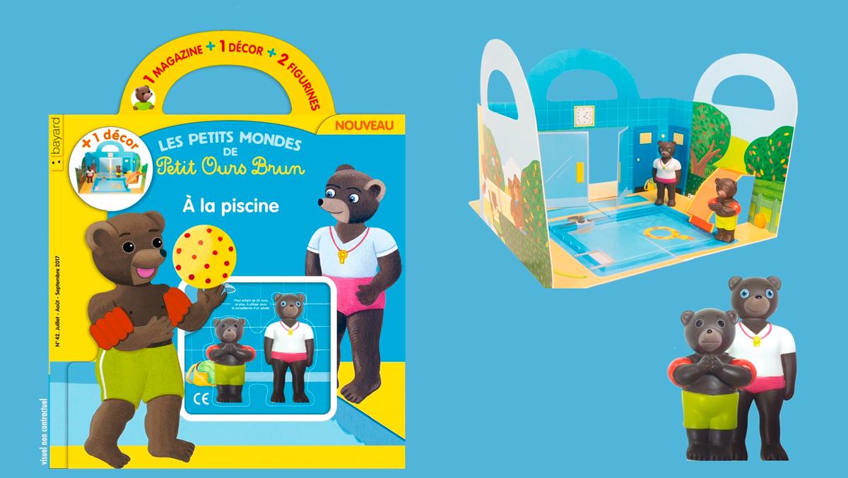 Les Petits Mondes de Petit Ours Brun à la piscine