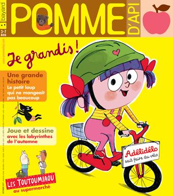 Couverture du magazine Pomme d'Api, octobre 2017