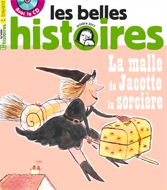Couverture du magazine les Belles Histoires, n° 538, octobre 2017.