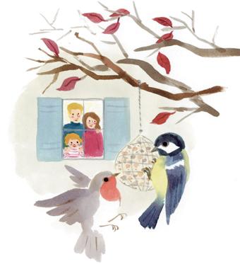 """""""5 activités d'automne"""", supplément pour les parents du magazine Popi de novembre. Texte : Joséphine Lebard, illustrations : Marie Flusin."""