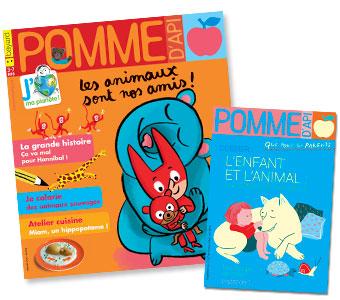 Couverture du magazine Pomme d'Api n°627 (mai 2018) et son supplément pour les parents
