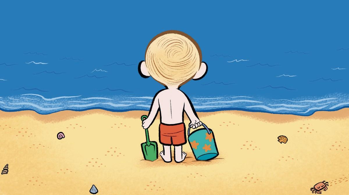 """""""Quand le tout-petit découvre la mer"""", Popi n° 383, juillet 2018 - Texte : Joséphine Lebard. Illustrations: Laurel."""