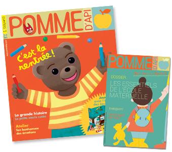 Couverture du magazine Pomme d'Api n°631, septembre 2018, et son supplément pour les parents
