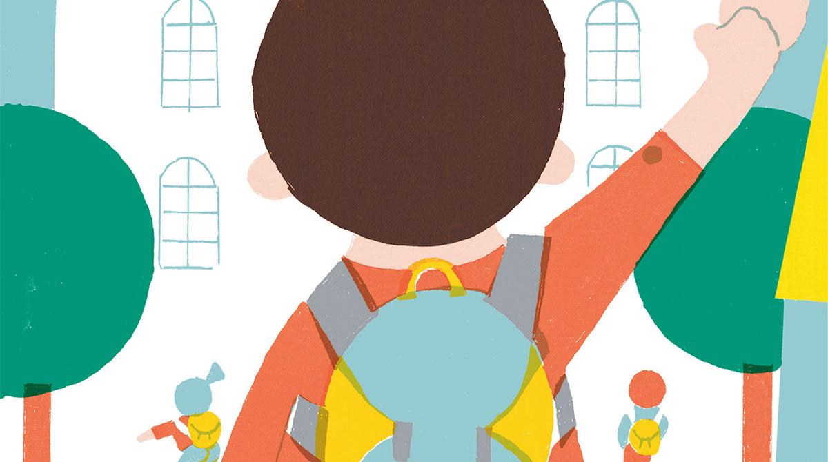 """""""Les essentiels de l'école maternelle"""", supplément pour les parents du magazine Pomme d'Api n° 631, septembre 2018. Texte : Anne Bideault, illustrations : Julia Lamoureux."""