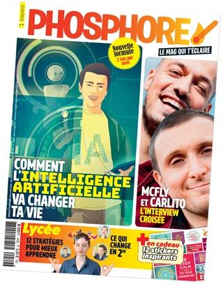Couverture du magazine Phosphore, n°449, du 1er septembre 2018