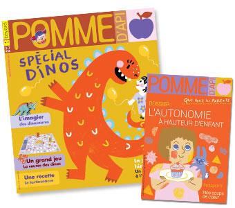 Couverture du magazine Pomme d'Api n°632, octobre 2018, et son supplément pour les parents.