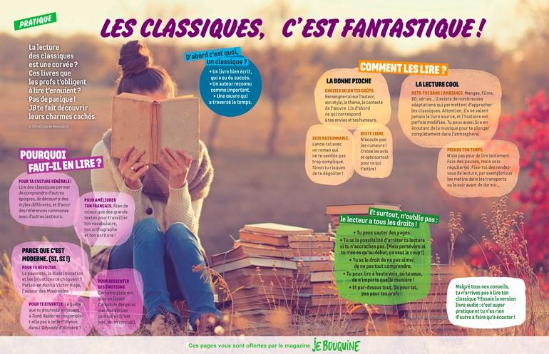 """Téléchargez l'article """"Les classiques, c'est fantastique !"""", Je bouquine, n°417, novembre 2018. Texte : Christille de Monclin. Photo : AdobeStock."""