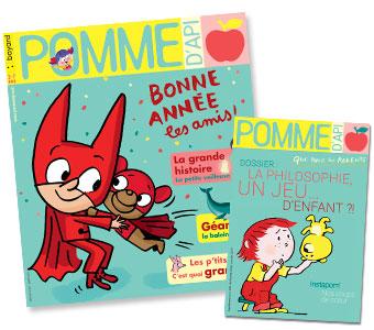 Couverture du magazine Pomme d'Api n°635, janvier 2019, et son supplément pour les parents.