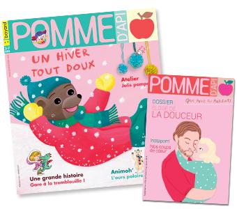 Couverture du magazine Pomme d'Api n°636, février 2019, et son supplément pour les parents.