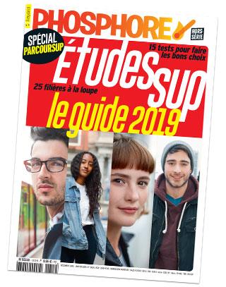 """Couverture du hors-série Phosphore """"Études Sup, le guide 2019, spécial Parcoursup"""""""