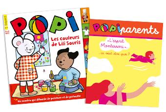 Popi n°391, mars 2019, et son supplément pour les parents.