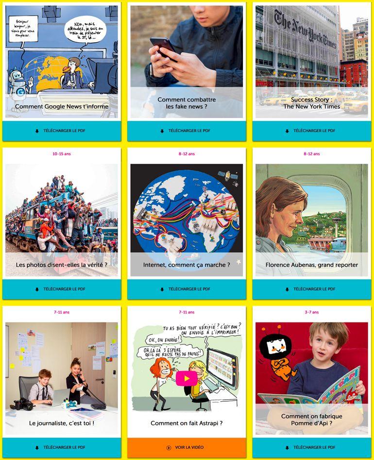 Téléchargez des contenus gratuits pour la Semaine de la presse et des médias dans l'école.