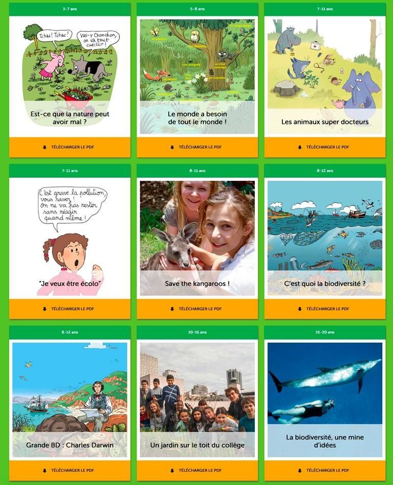 Prendre soin de la nature, ça s'apprend dès le plus jeune âge - Téléchargez une sélection d'articles pour les 3-18 ans.