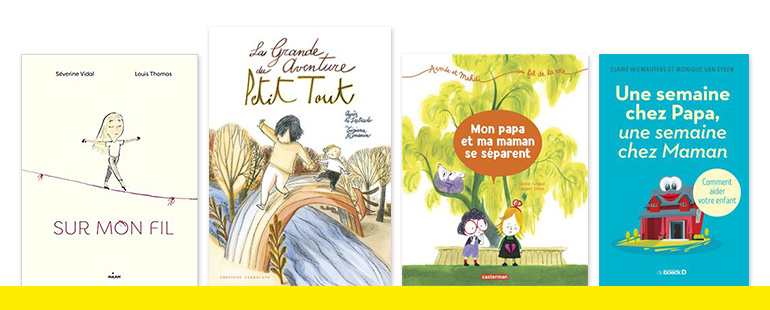 """""""Quand les parents se séparent"""", supplément pour les parents du magazine Pomme d'Api, n° 639, mai 2019. Texte : Anne Bideault. Illustrations : Pascal Lemaître."""