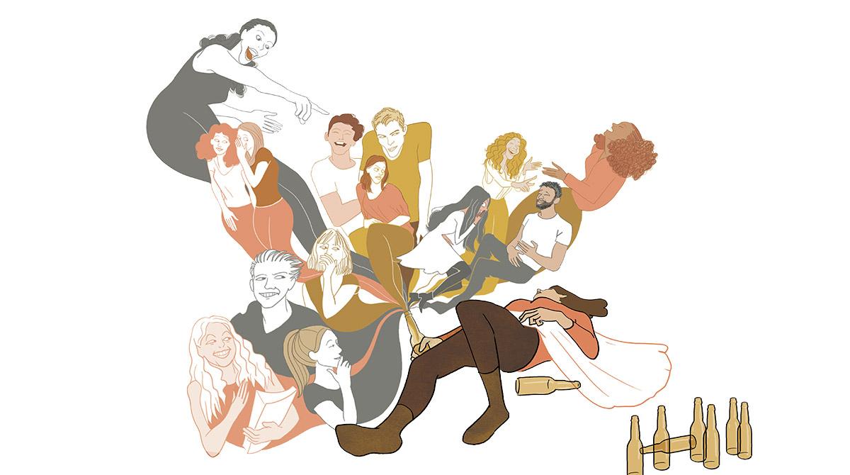 """L'histoire de Clémence, 17 ans : """"J'ai fait un coma éthylique"""". Phosphore, n°469, juillet 2019. Texte : Christine Lamiable. Illustrations : Lucile Gomez."""