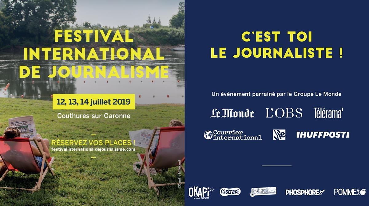 Festival international de journalisme Couthures-sur-Garonne 12-14 juillet 2019