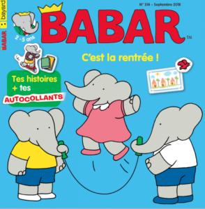 couverture du magazine Babar pour les 2-5ans