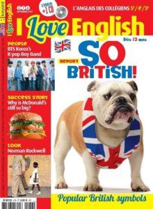 couverture magazine I Love English pour les 12-15ans