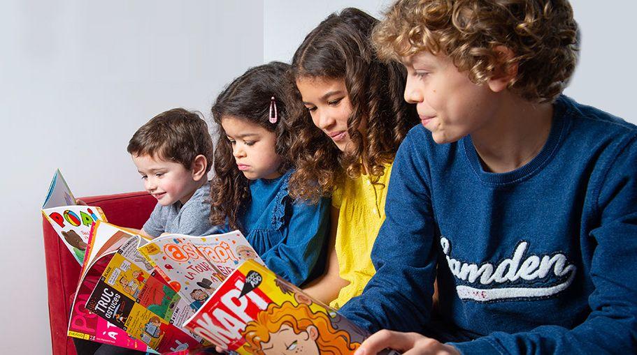 Enfants lecteurs de magazines Bayard Jeunesse. Découvrez Popi, Pomme d'Api, Astrapi et Okapi !