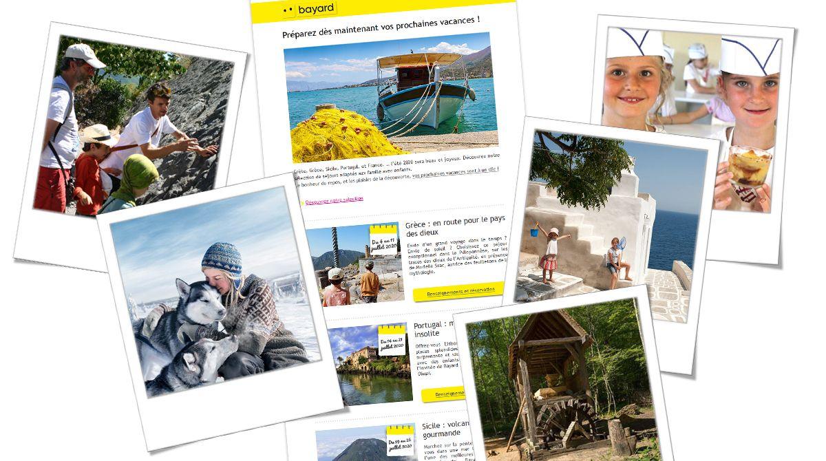 Newsletter sélection de nouveautés séjours et loisirs vacances en famille