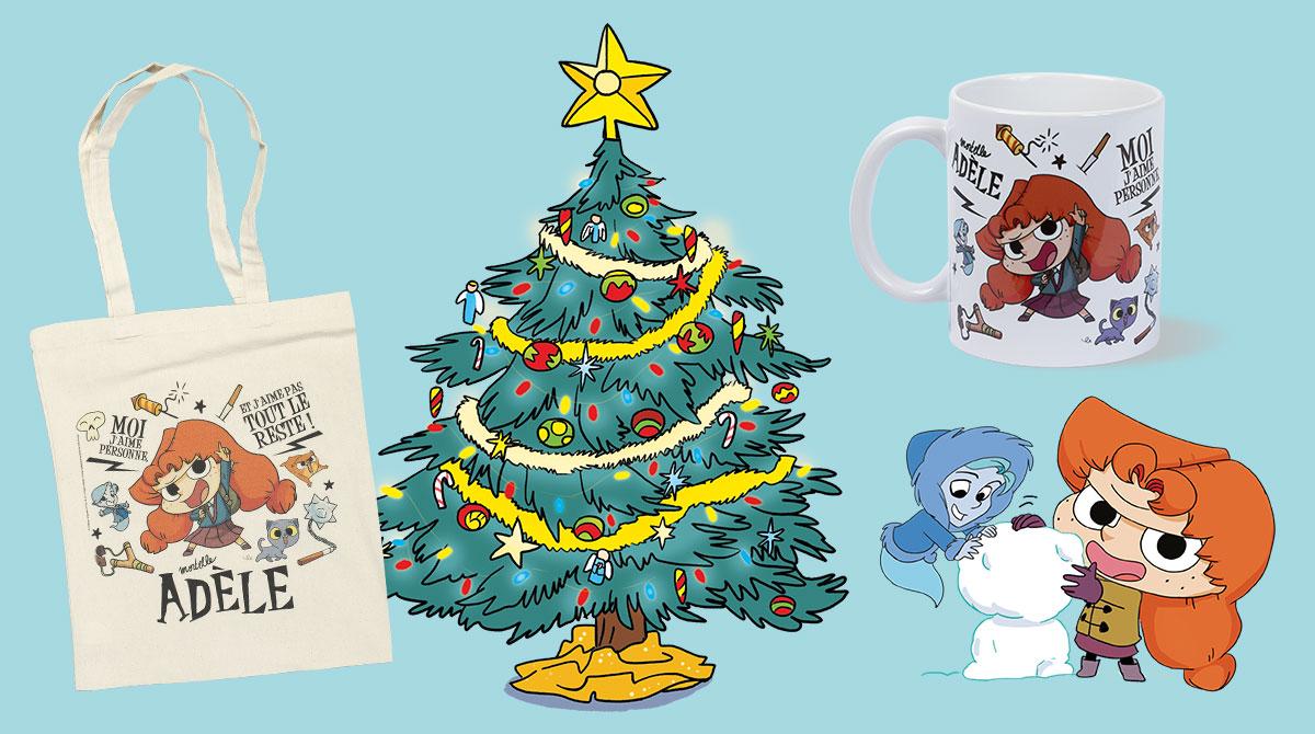 Mortelle Adèle : des cadeaux de Noël interdits aux nazebroques. © MrTan / Diane Le Feyer / Miss Prickly - Bayard