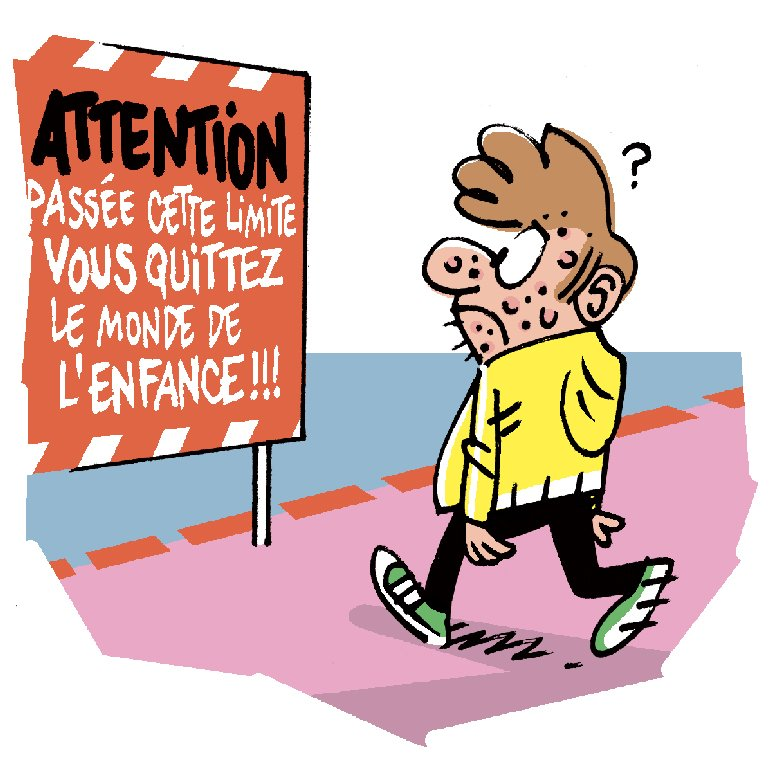 """Qui a inventé l'adolescence ?"", Okapi n°1105, 1er février 2020. Texte : Amélia Morghadi. Illustrations : Manu Boisteau."