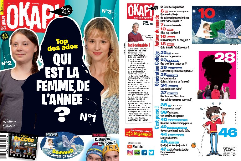 Sommaire du magazine Okapi, n°1105, du 1er février 2020.