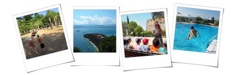 Photos polaroïd du séjour soleil et découverte en Grèce