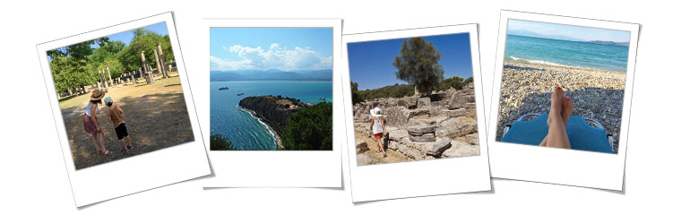 Photos polaroïd du séjour à la rencontre des dieux et héros grecs