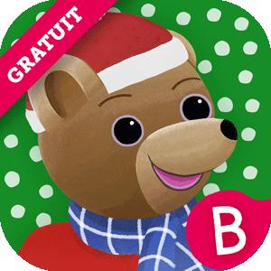 Le calendrier de l'Avent de Petit Ours Brun, application pour les 2-4 ans