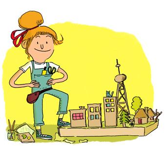 """Colonie de vacances """"Au pays des bâtisseurs"""" - Illustrations : Marie de Monti"""