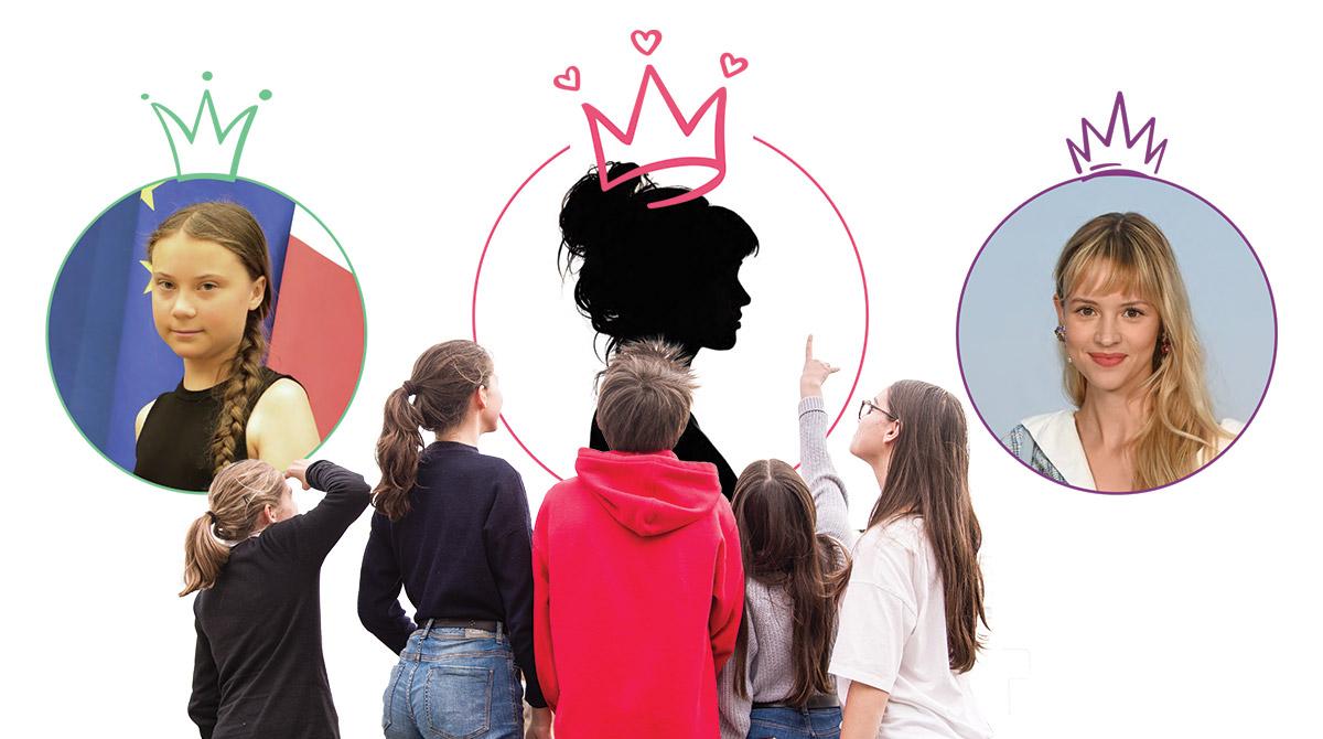 Silhouette de profil : AdobeStock ; Angèle : ABACAPRESS ; Greta Thunberg : SIPA ; Ados : Patrice Eglin.