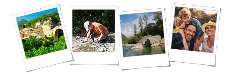 Vacances en Provence, frise de photos