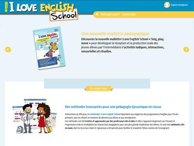 un écran du site iloveenglishschool.com