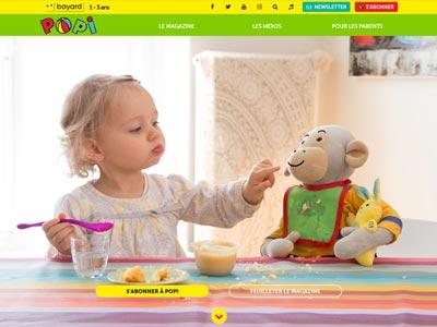 écran du site popi.fr