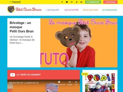écran du site petitoursbrun.com