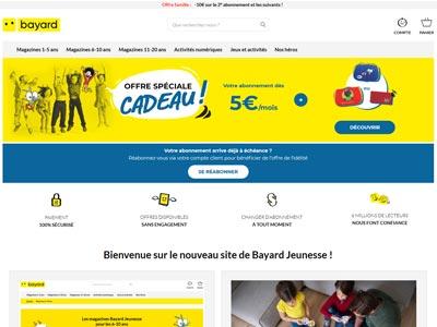 écran du site bayard-jeunesse.com
