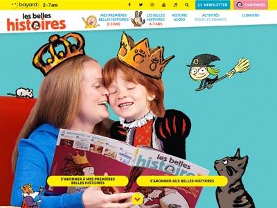 écran du site belleshistoires.com